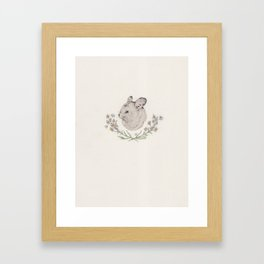 Chinchilla and Branches Framed Art Print