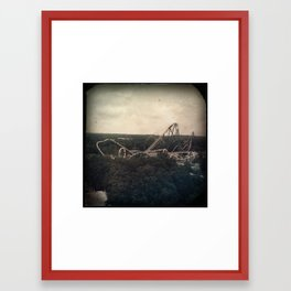 Up and Down Upside Down ! Framed Art Print