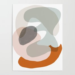 Shapes and Layers no.15 - soft neutral colors Poster
