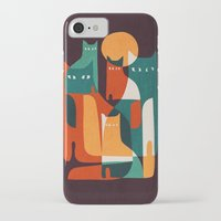 family iPhone & iPod Cases featuring Cat Family by Picomodi
