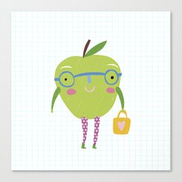 Little Miss Apple Canvas Print