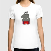 hippo T-shirts featuring Hippo by lescapricesdefilles