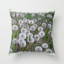 SEEDS OF DANDELION Throw Pillow