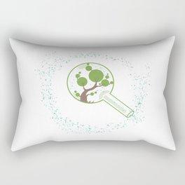 minimal abstract art tree of life Rectangular Pillow