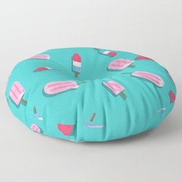 Popsicles and Firecrackers Pattern  Floor Pillow