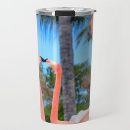 Vibrant Flamingos Travel Mug