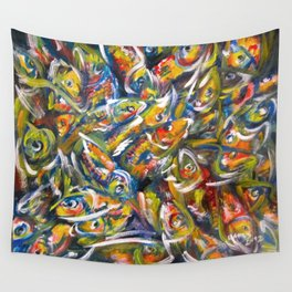 Fish Pile Wall Tapestry