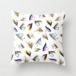 Classic Salmon Fishing Flies Throw Pillow