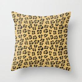 Leopard Print - Wild Anmals skin Throw Pillow