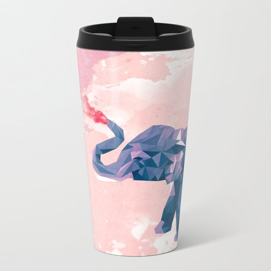 Rainbow Elephant Metal Travel Mug