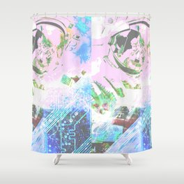 Jem of Space Shower Curtain