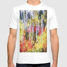 Title: Glorious Colors - digital Silk Screen MEDIUM Mens Fitted Tee White