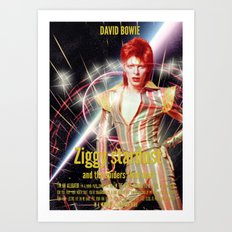 David Bowie - Ziggy stardust Art Print