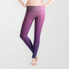 Pastel Gradient Pink Lavender Ultra Violet Arcadia Pattern | Pantone colors of the year 2018 Leggings
