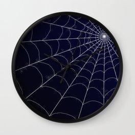 Spiderweb on Midnight Wall Clock
