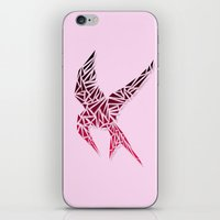 mockingjay iPhone & iPod Skins featuring Mockingjay by AliyaStorm