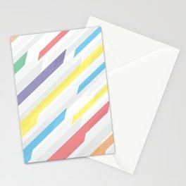 Tech geometric colorful lines background #society6 #decor #buyart #artprint Stationery Cards