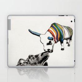 COW Eating a Dress Laptop & iPad Skin