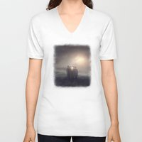 la V-neck T-shirts featuring La Reunion by Viviana Gonzalez