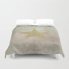 Sparkling Glamorous Golden Star Duvet Cover