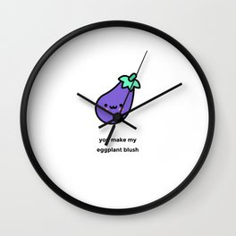 JUST A PUNNY EGGPLANT JOKE! Wall Clock