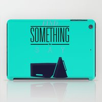 literary iPad Cases featuring Literary Quote Poster — Title Poster by Evan Beltran