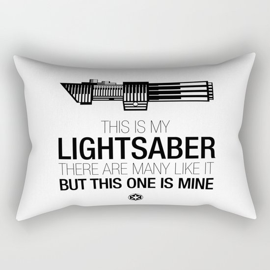This is my Lightsaber (Vader Version) Rectangular Pillow