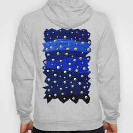 Metallic Blue Background with Shiny Dots Hoody