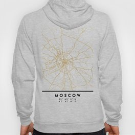 MOSCOW RUSSIA CITY STREET MAP ART Hoody