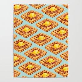 Waffle Pattern Poster