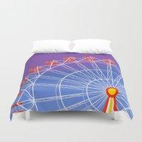 ferris wheel Duvet Covers featuring Ferris Wheel by Haley Jo Phoenix