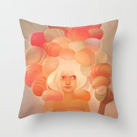 Throw Pillows featuring Glow by loish