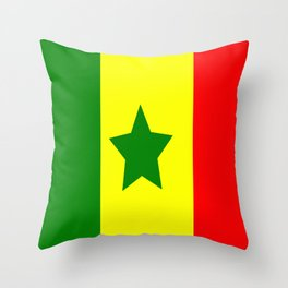 Flag of Senegal Throw Pillow
