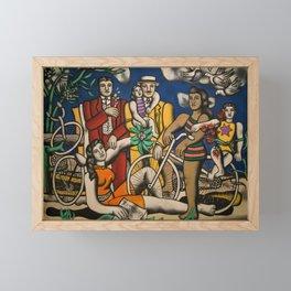 Paris, France Centre Pompidou family and friends portrait by Fernand Leger Framed Mini Art Print