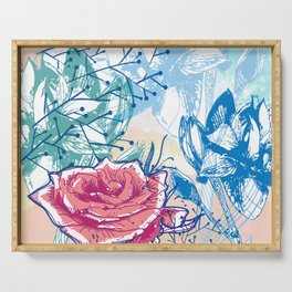Blossoming rose Serving Tray