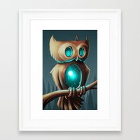 owl Framed Art Prints featuring Night Owl by Chump Magic