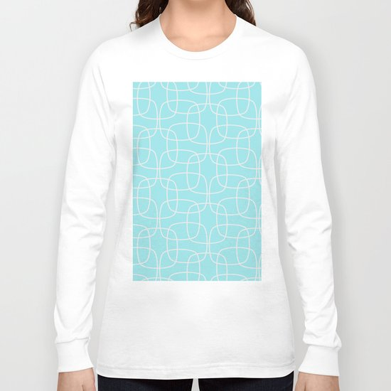 Square Pattern Mint Long Sleeve T-shirt
