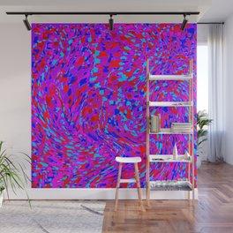 swirling red purple blue Wall Mural