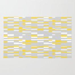 Mosaic Rectangles in Yellow Gray White #design #society6 #artprints Rug