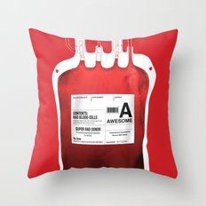 My Blood Type is A, for Awesome! *Classic* Throw Pillow