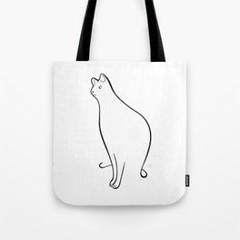 Linear Cat 01 Tote Bag