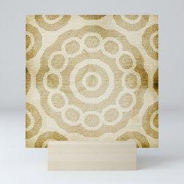 Rivet pattern on stained paper Mini Art Print