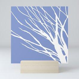 Tree Silhouette Periwinkle Blues Mini Art Print