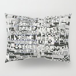 Confused Images Behind the Interface (P/D3 Glitch Collage Studies) Pillow Sham