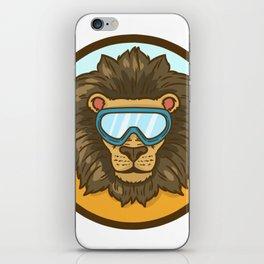 snow lion iPhone Skin