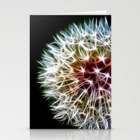 dandelion Stationery Cards featuring Fractal dandelion by Mark Nelson