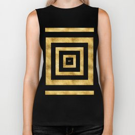 ART DECO SQUARES BLACK AND GOLD #minimal #art #design #kirovair #buyart #decor #home Biker Tank