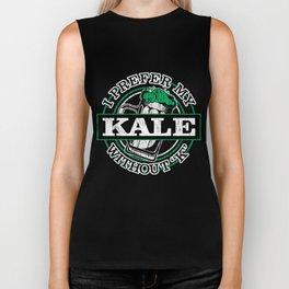 I prefer Kale with a Silent K Kale Art for Vegans Dark Biker Tank