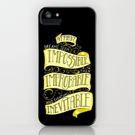 Inevitable Dream - Dark iPhone Case
