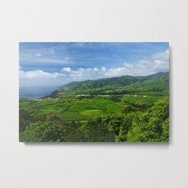 Azores islands landscape Metal Print